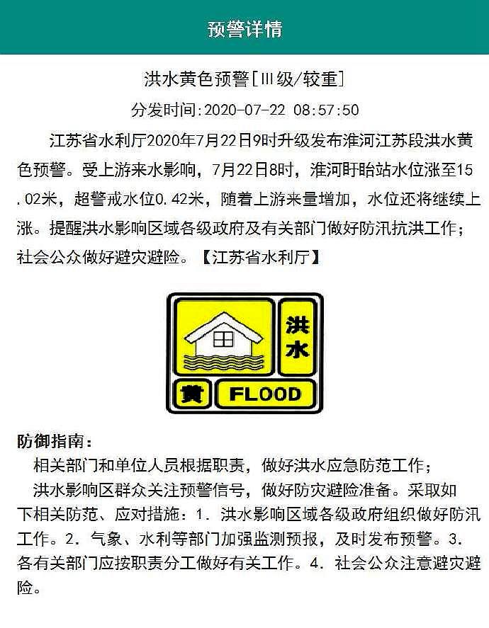 [杏悦]江苏省7月22日9杏悦时发布淮河江苏图片