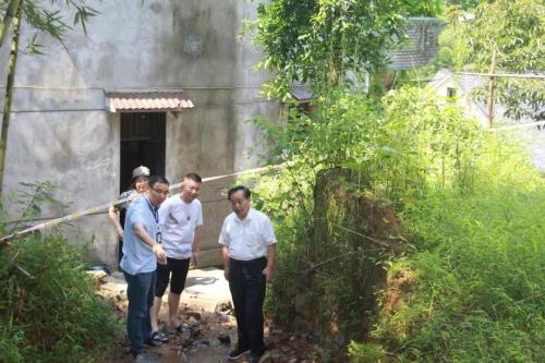 杏悦:在杭州市富阳区调研地质灾杏悦害防治图片