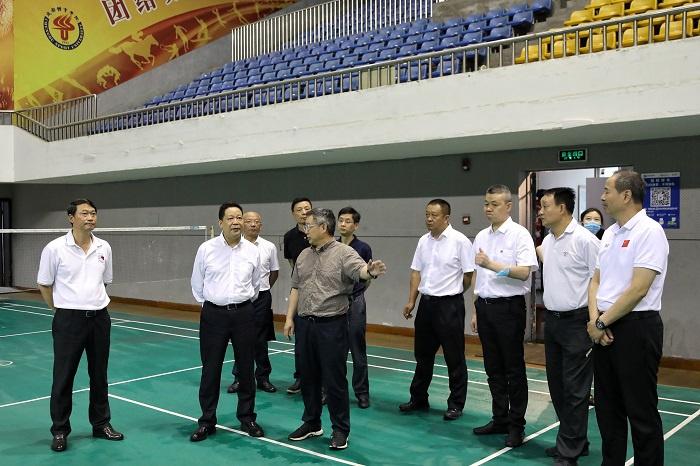 杏耀开户:平副省长调研大运会场馆改造杏耀开户工图片