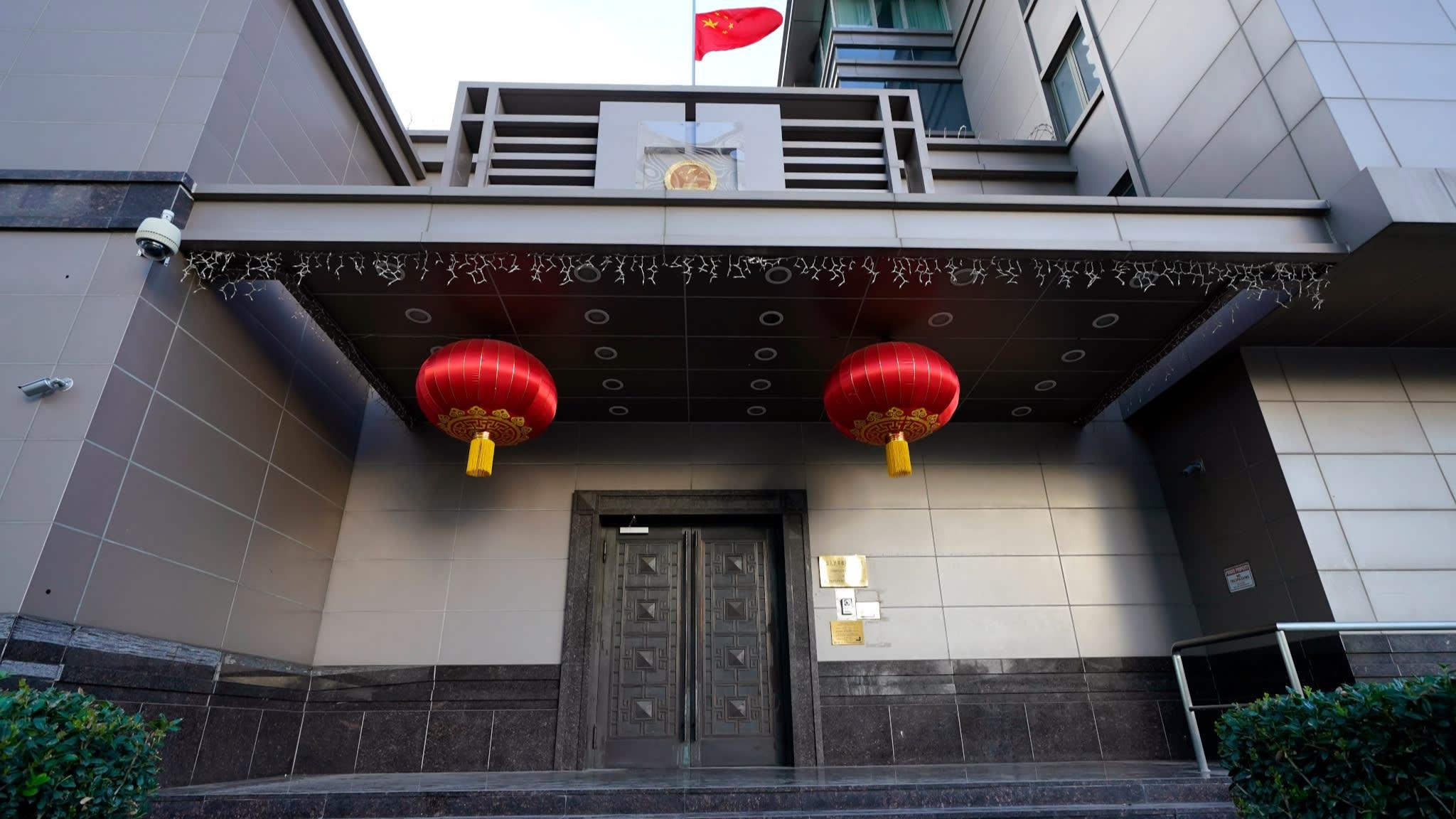 △中国驻休斯敦总领馆(图片来源:美联社)