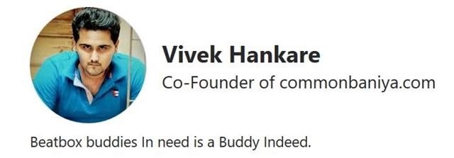 印度网友Vivek Hankare的Quora资料截图