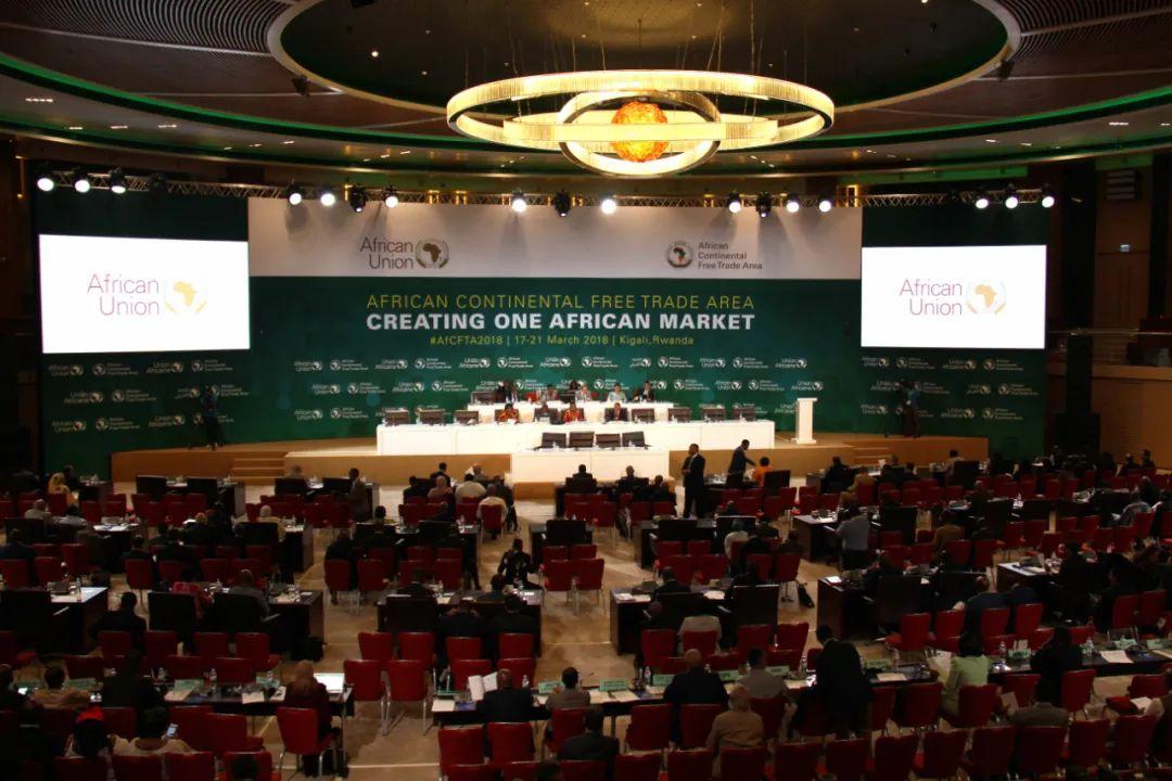 ▲这是2018年3月17日在卢旺达首都基加利拍摄的非洲联盟(非盟)非洲大陆自由贸易区特别峰会现场。新华社记者 吕天然 摄