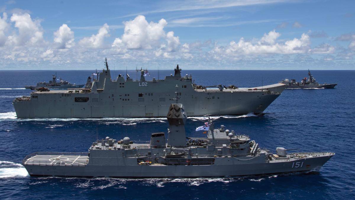 澳大利亚海军7月中旬在南海参加美日澳联合演习 图自美国太平洋舰队