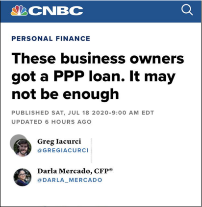 △CNBC称,仅有16%的美国小企业在计划结束后还能继续发放工资,84%的企业表示,它们的资金将在8月的第一周耗尽