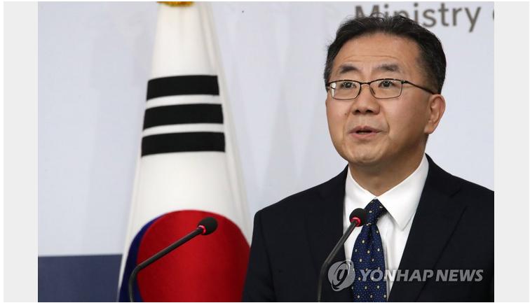 韩国外交部发言人金仁澈资料图 图源:韩联社