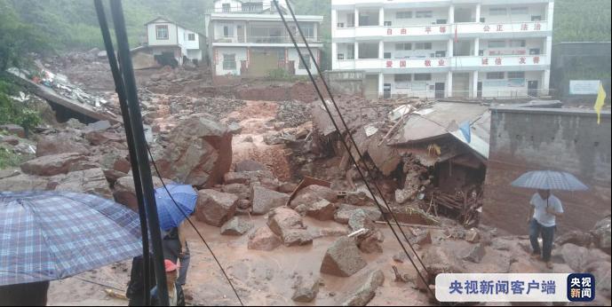 △受强降水影响,昭通发生泥石流