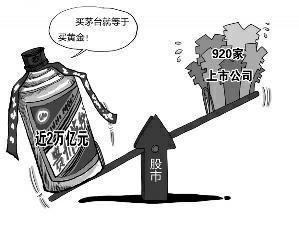 贵州茅台昨市值近2万亿 超920家上市公司之和