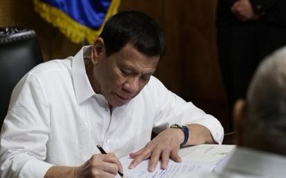 △菲律宾总统杜特尔特 资料图(图片来源:菲律宾国家通讯社)