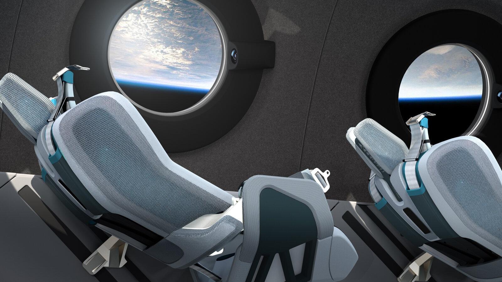 """维珍银河""""太空船二号""""机舱内饰"""