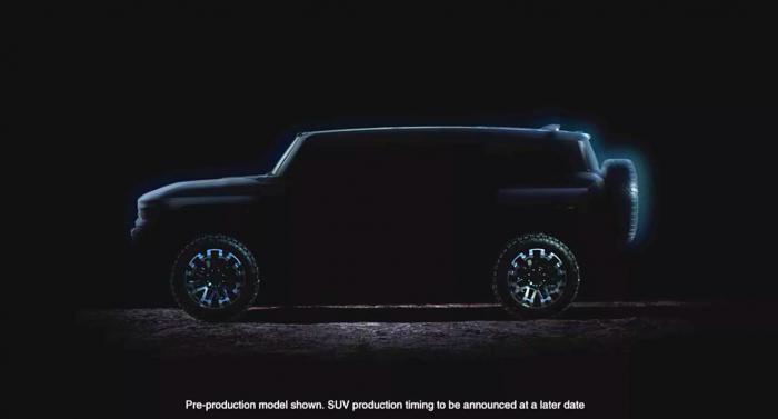功率可达1000马力!悍马EV皮卡SUV车型即将亮相