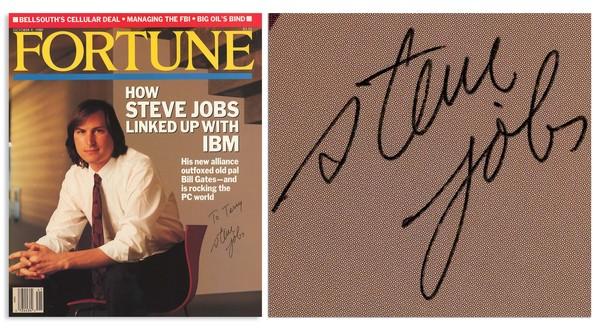 乔布斯签名杂志拍卖