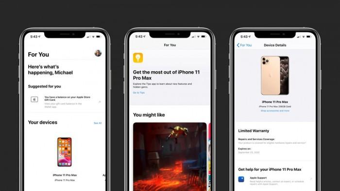 [图]Apple Store新增For You页面