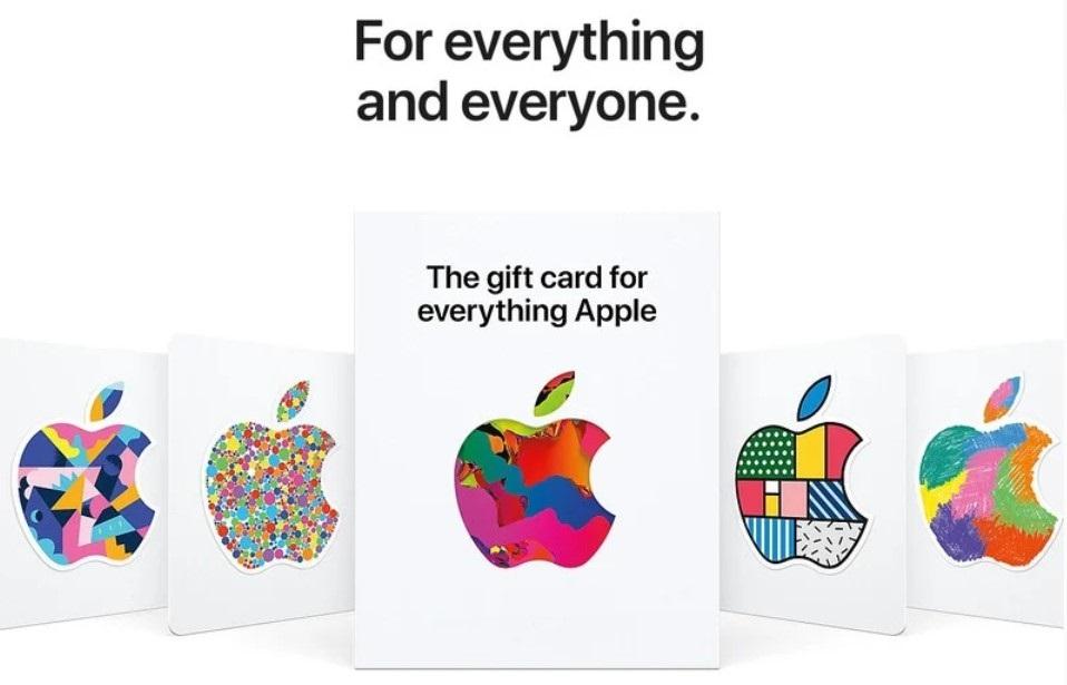 苹果公司推出新的礼品卡:可购买所有苹果产品