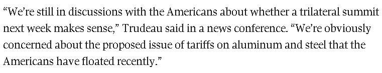 △加拿大《环球邮报》7月3日对特鲁多是否出访美国的报道