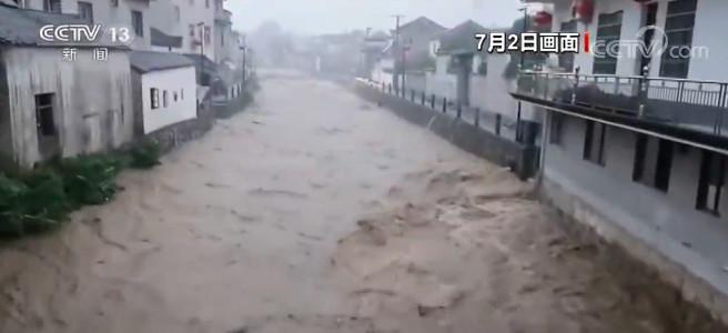 高德招商:强降雨导致河水暴涨民房进水农田高德招商图片