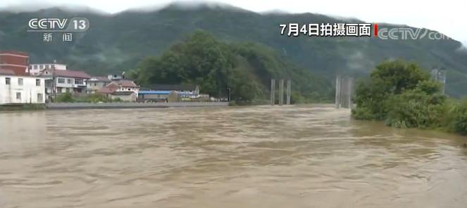 安徽祁门强降雨致水位暴涨农田受淹道杏悦,杏悦图片