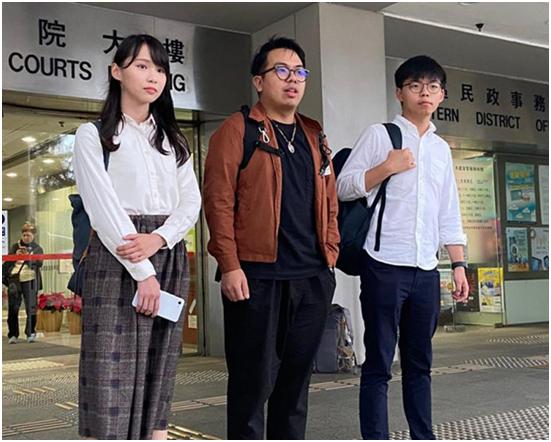"""黄之锋说""""香港很像数十年前的台湾"""" 岛内网友:滚!图片"""