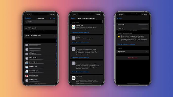 iOS 14 iCloud钥匙串新功能:对可能会遭泄的弱密码发出警告