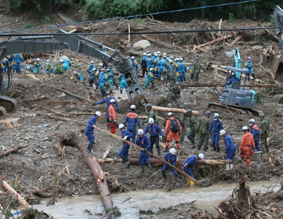 日本九州暴雨已致44人死亡 安倍紧急指示:人命第一