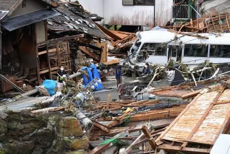 日本熊本县暴雨致44人死亡10人失踪 自卫队参与搜救