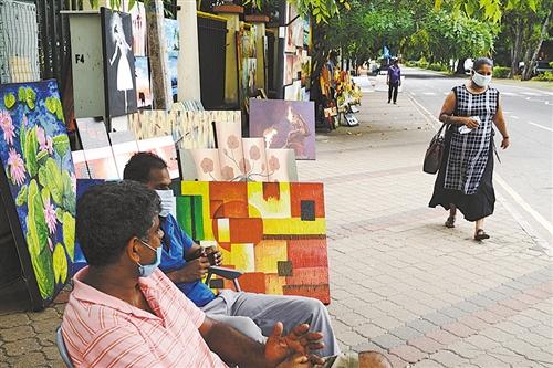科伦坡街头艺术画廊开张