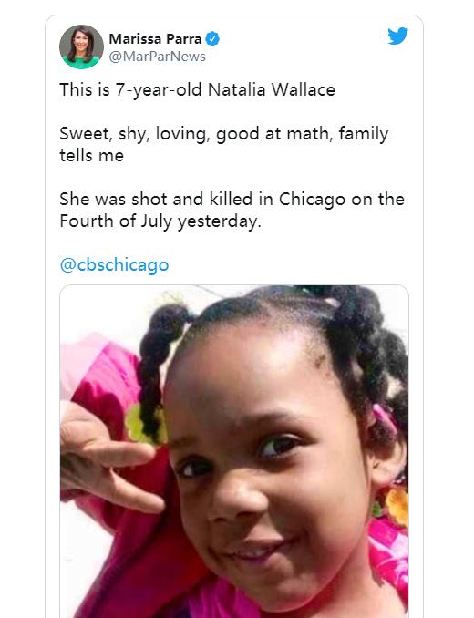 (图为CBS新闻网记者给出的遇害女童的照片)