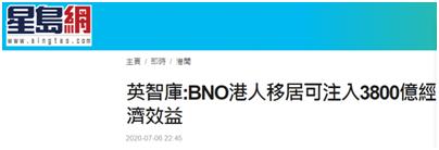 【杏悦】持BNO港人移民可为英国带去3杏悦880亿图片