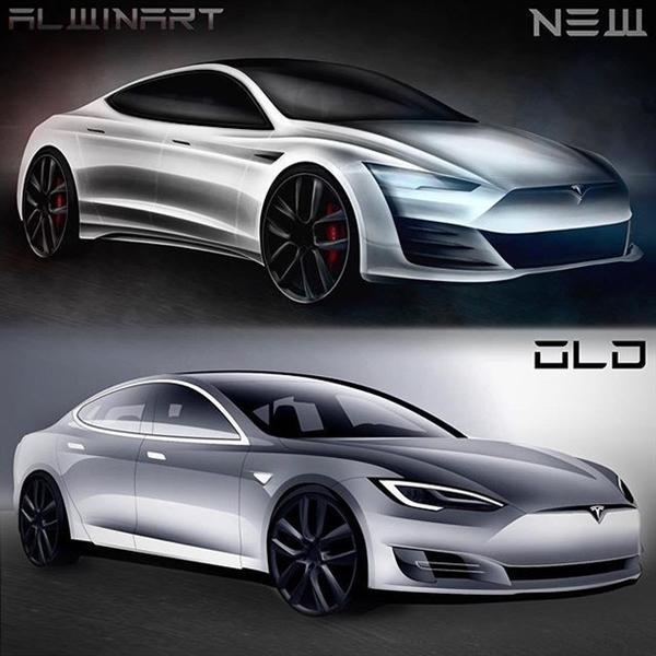 70万买个电动大玩具!全新特斯拉Model S渲染图曝光:造型更激进