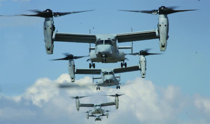 """美军装备的""""鱼鹰""""运输机"""