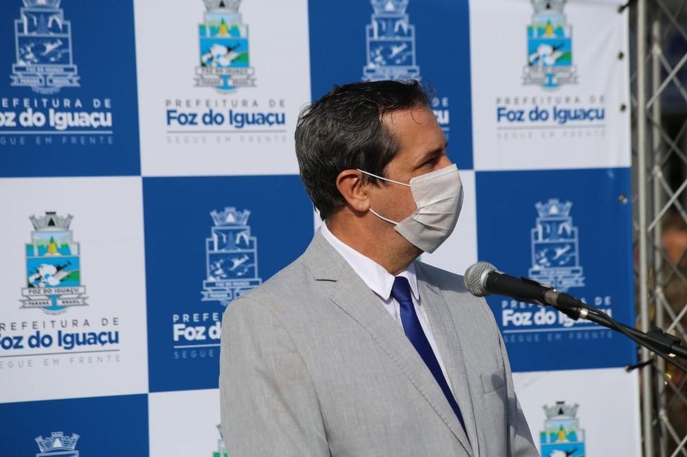 △图为伊瓜苏市市长,图片来源:巴西媒体环球网。