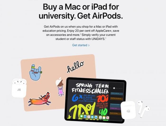 [图]苹果在欧洲等市场启动返校季促销:购买指定款免费赠送AirPods