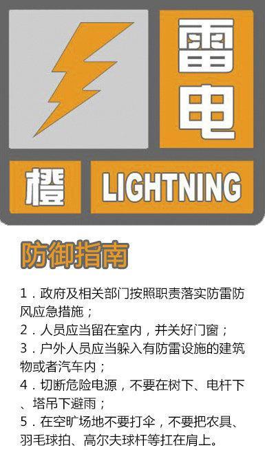 杏悦:陕西突杏悦发气象灾害雷电橙色预警信号图片