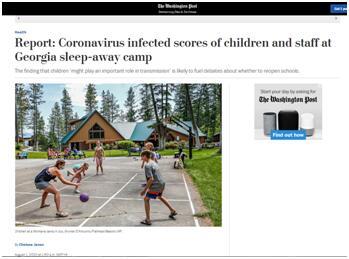 260名儿童夏令营感染美国学校线下复课讨论分化加剧