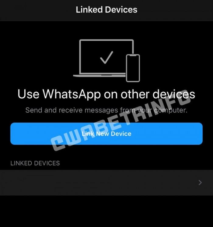 [图]WhatsApp将允许用户同时在多台设备登录相同账号使用