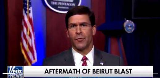 """美防长为特朗普""""背书"""":黎巴嫩爆炸事件是袭击"""