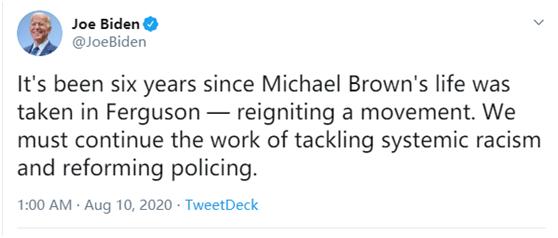 """拜登重提""""警察杀死黑人""""旧案欲拉选票 评论区翻车"""