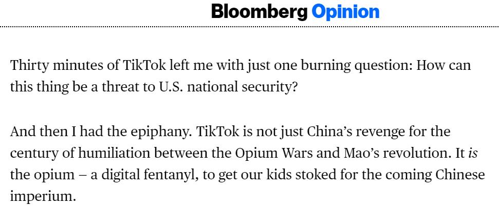 被吓傻了?前哈佛教授称TikTok是中国报复西方的鸦片