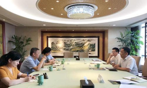 房立群副厅长会见浙报传媒副总经理《浙商》杂志总编辑周丹一行