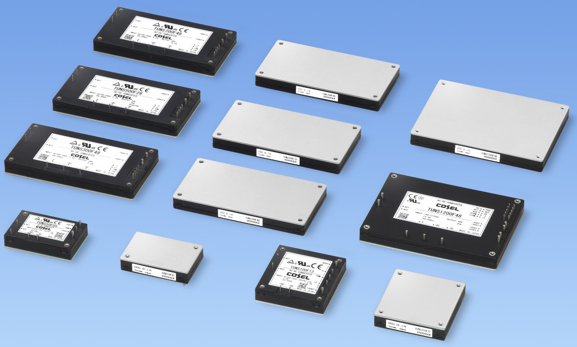 COSEL发布用于工业和医疗的1.2kW功率密度高、外形薄、板载AC/DC电源模块