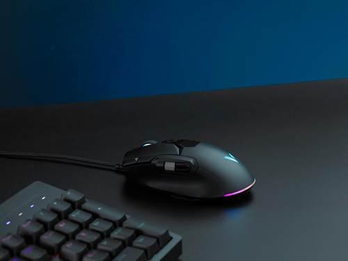 可拓展鼠标侧翼,雷柏V330幻彩RGB游戏鼠标视频