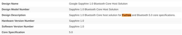 安卓取代者:谷歌Fuchsia OS操作系统已获蓝牙认证
