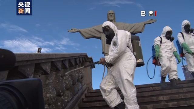 巴西里约旅游景点为重新开放做好消毒准备