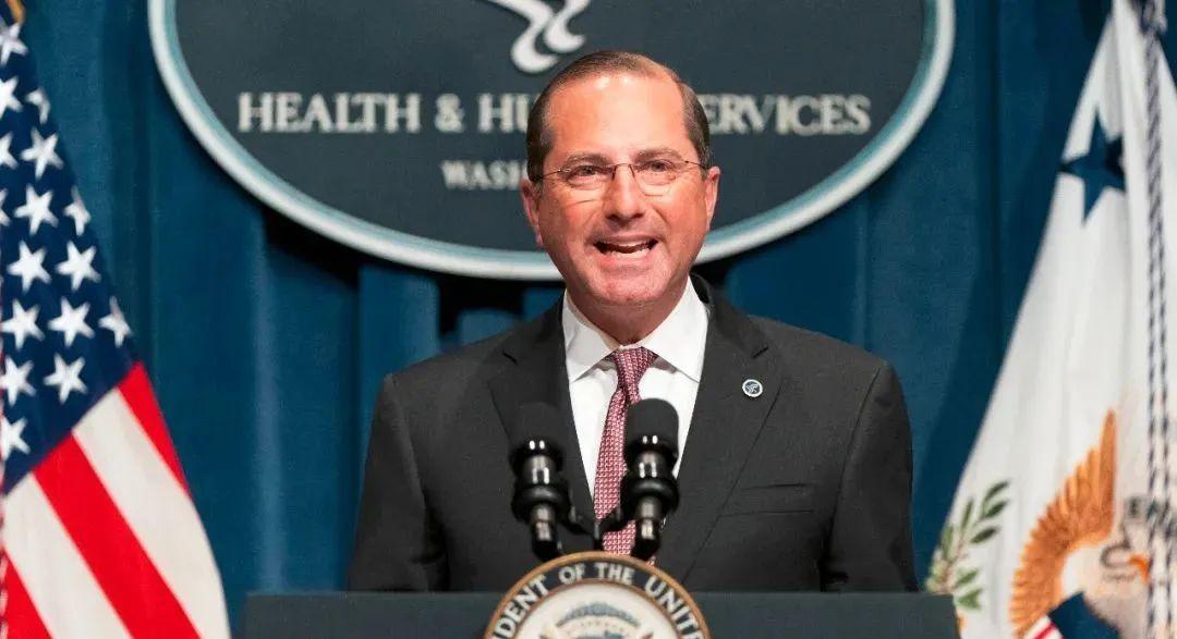 美国卫生与公众服务部部长亚历克斯·阿扎