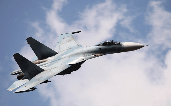△俄军苏-27战机