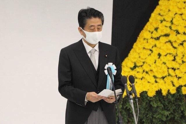 """安倍战败日发言未提""""历史"""" 日媒:请正视过去,吸取教训"""