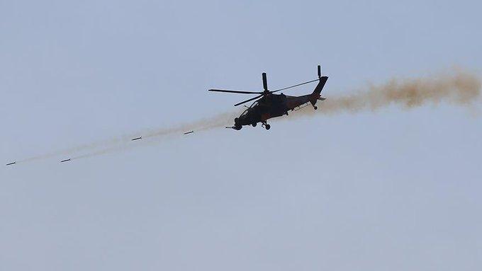 土耳其T-129直升机在阿夫林地区展开攻击 资料图 图源:土耳其陆军