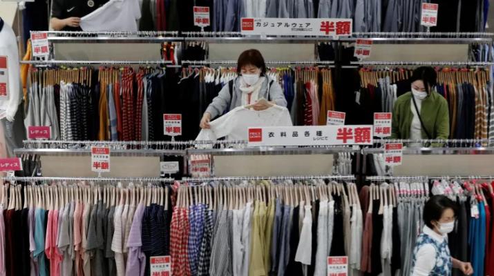 △日本经济连续三个季度下滑。(图片来源:路透社)