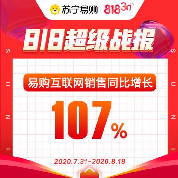 苏宁易购发布818超级战报 互联网