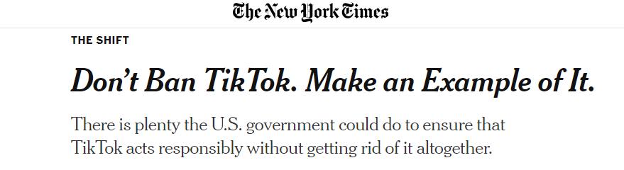 △《纽约时报》消息截图