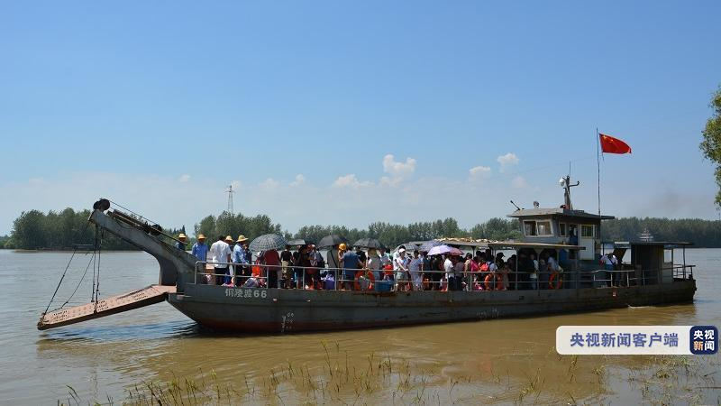 长江安徽铜陵段水位逐步回落 数万名江心洲群众陆续返乡